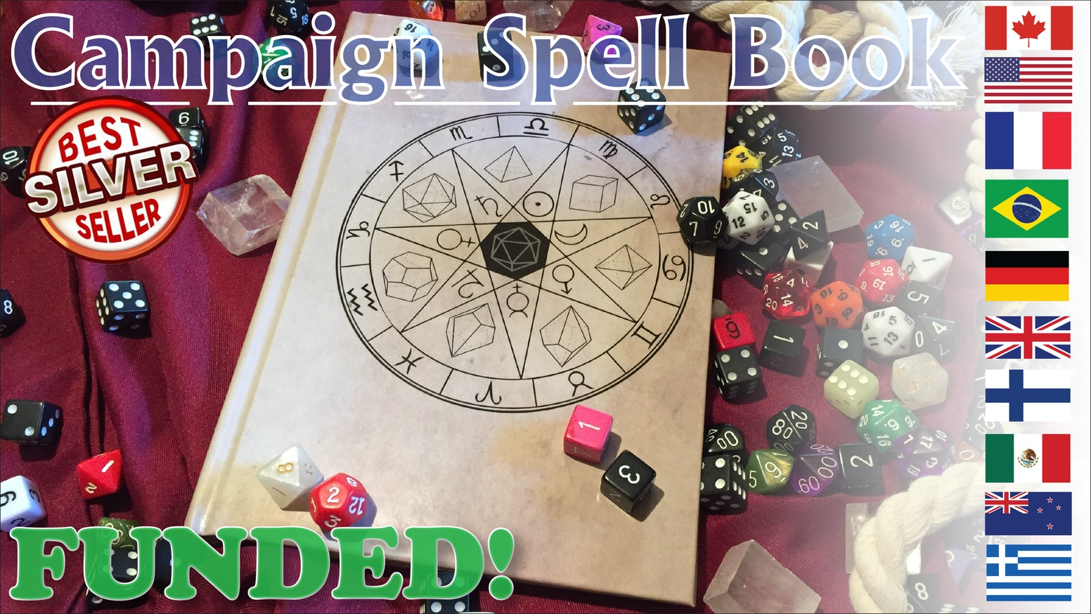 A hardcover system-neutral spell and campaign notebook for any language.