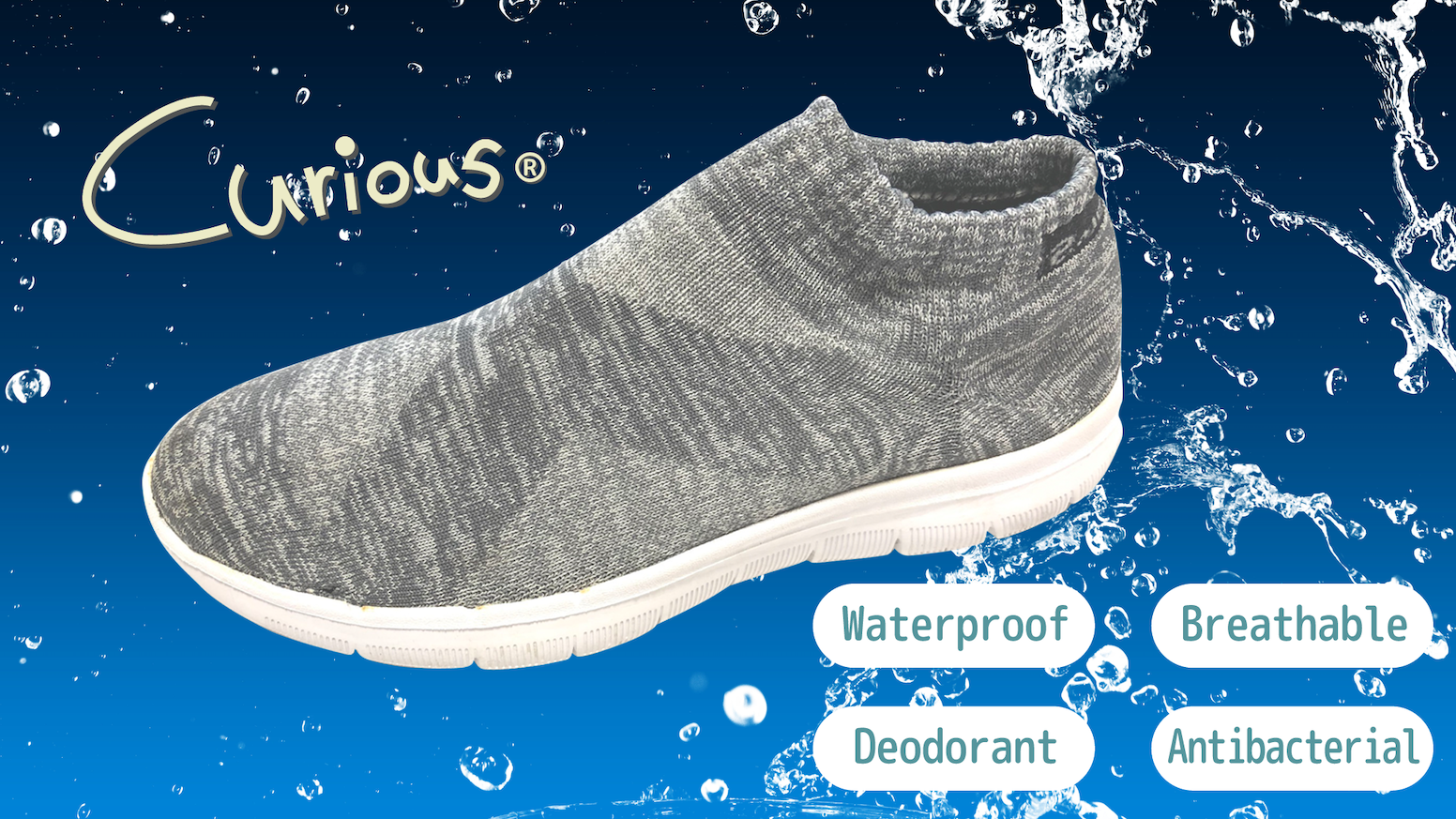 The World's first waterproof & deodorant knit shoes