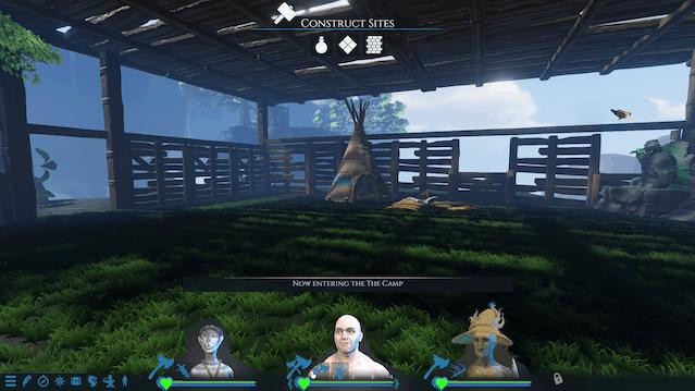 Finally making camp