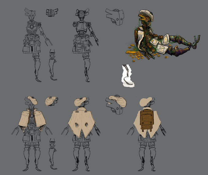 Exclusive digital art book with never-before-seen sketches, character designs, creator's notes, and other unique content!