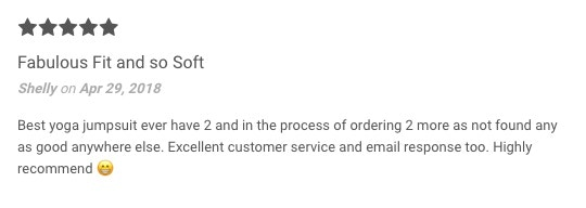 Jumpsuit | 5* Customer Review