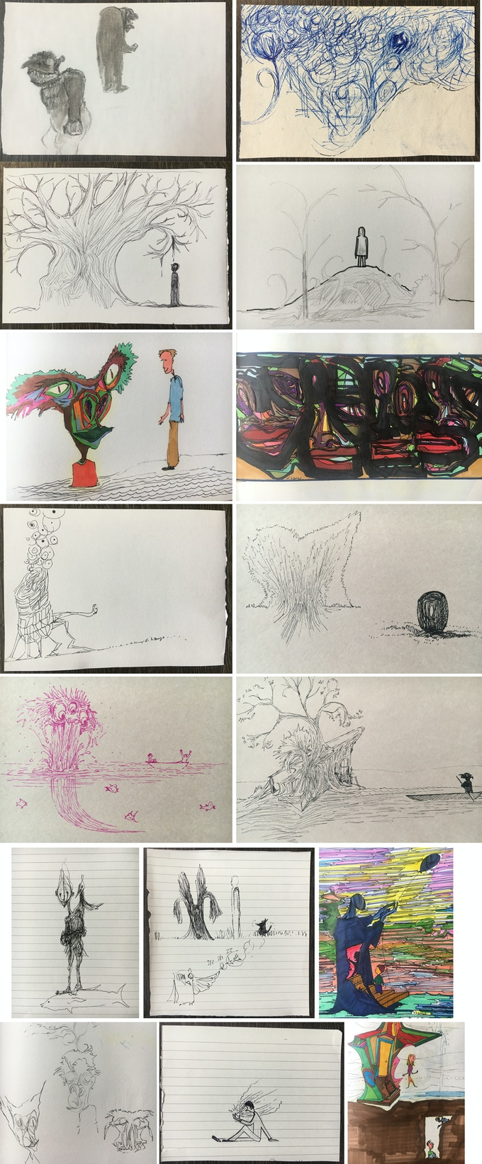 Original sketches and drawings from the director!