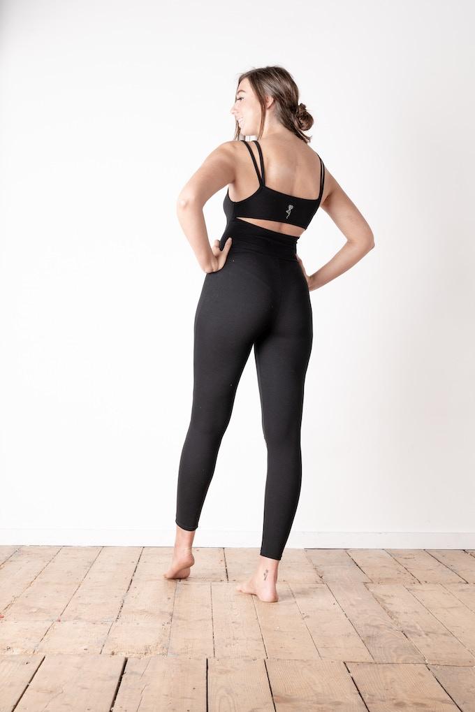 Split Knee Jumpsuit Rear