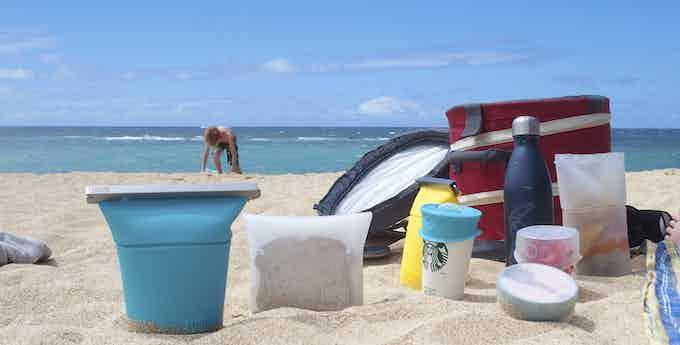 luumi picnic on Baldwin Beach, Maui