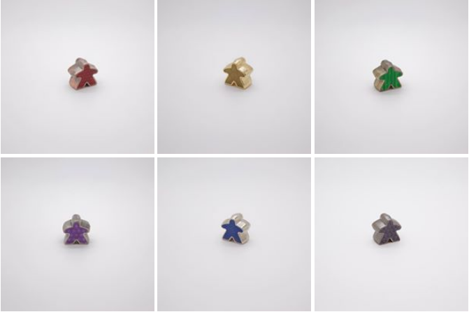 Deluxe Metal Meeple prototypes: Facebook photo album