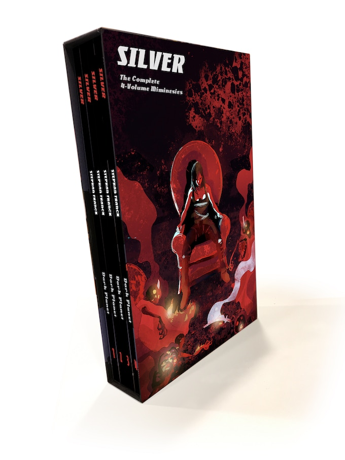 The image above is a digital mock-up of the slipcase.