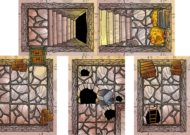 A sample of the Deck of Many Dungeons 2