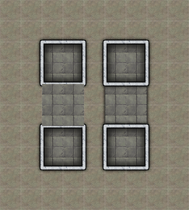 Left: Room without wall, Right: Shape
