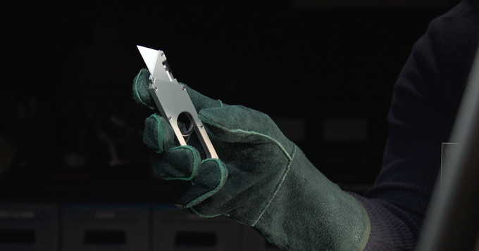 You can even unlock the Maker Knife wearing thick gloves.