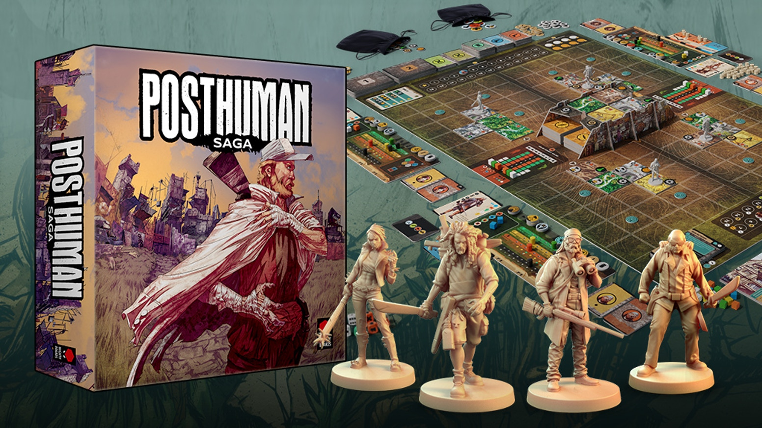 A strategic survival board game in the mutant world of Posthuman