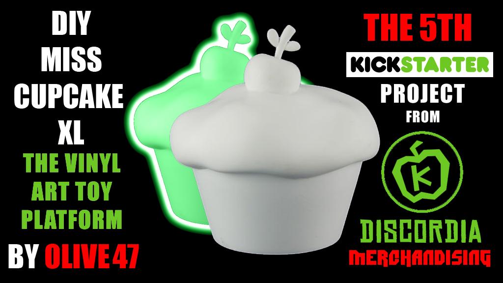 Project image for DIY Miss Cupcake XL - Vinyl Art Toy Platform (Canceled)