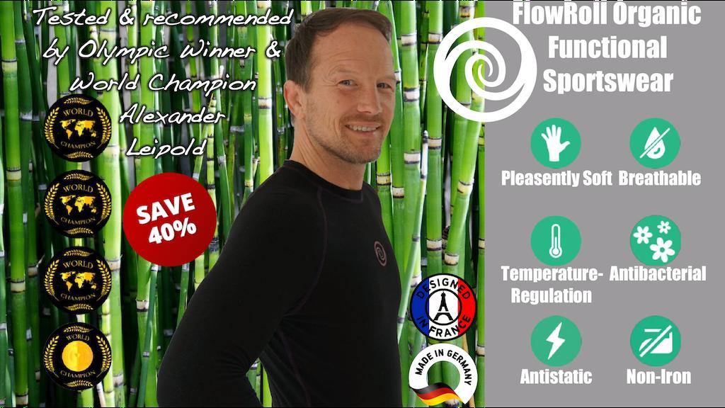 FlowRoll Bamboo Revolution - Organic & Functional Sportswear