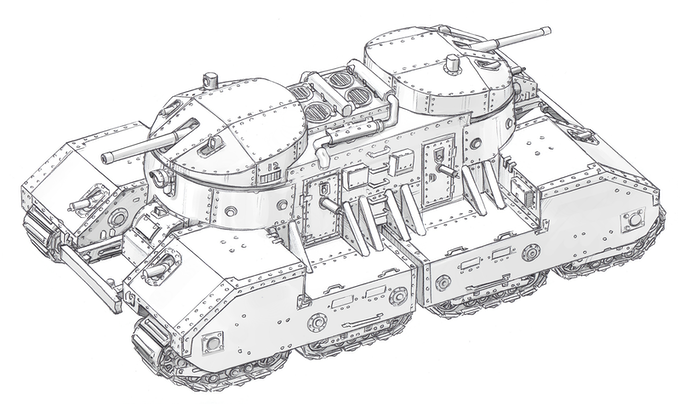 Istalian Bastion-class landship. 100 tons of perfect engineering.