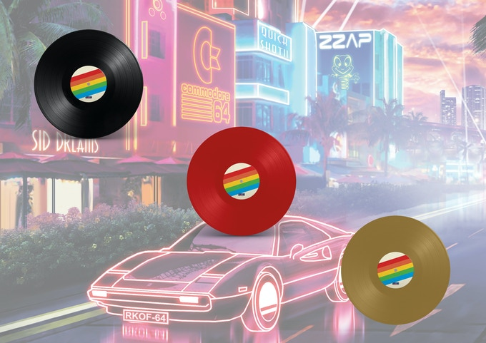 Black, Commodore Red and Gold vinyl available