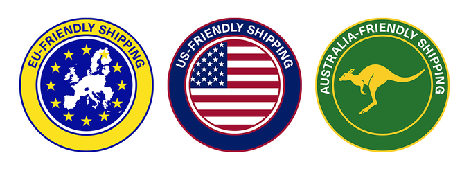 US, EU and AU-friendly shipping!