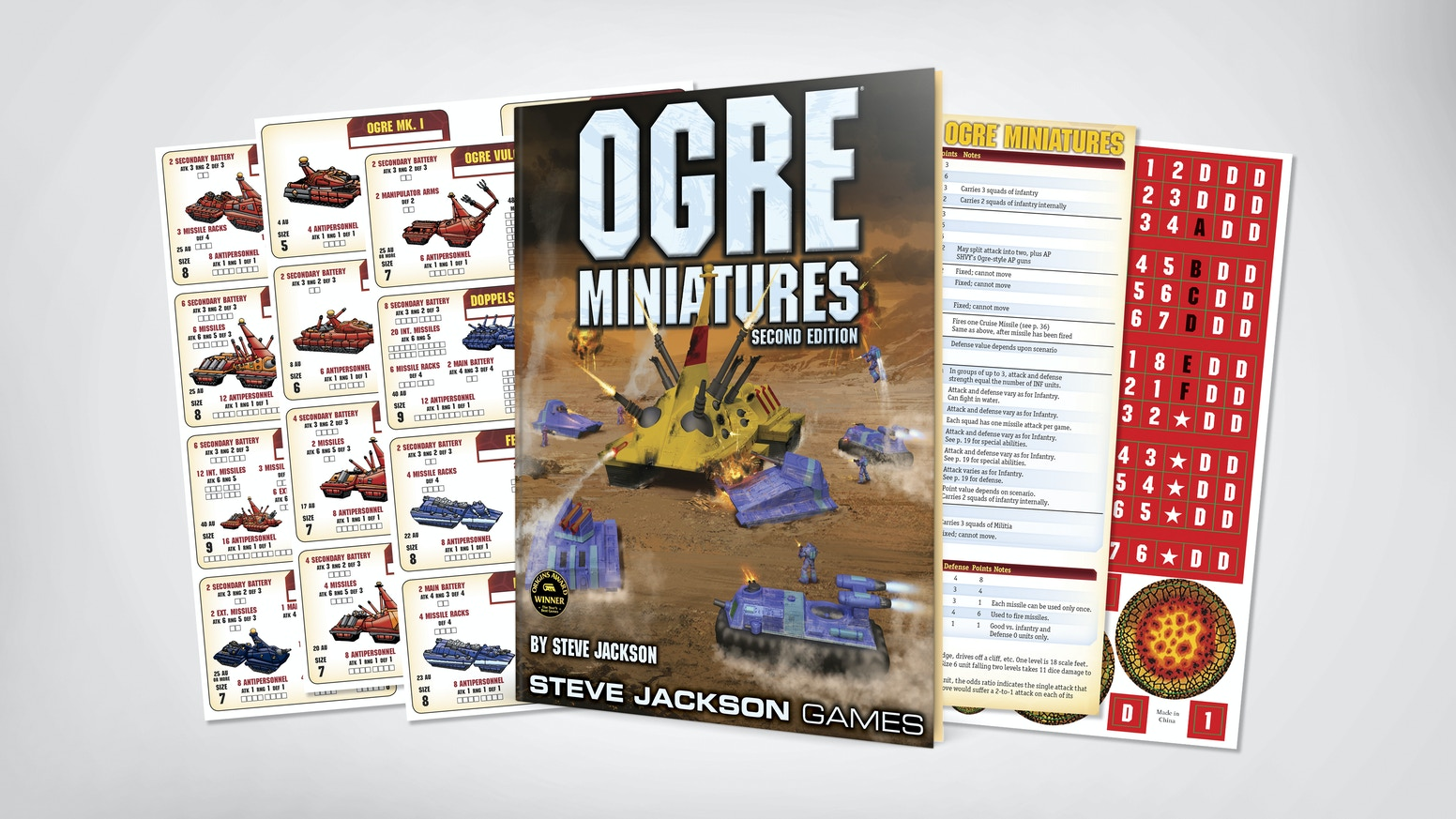 Now Steve Jackson's award-winning Ogre Miniatures rulebook is back!