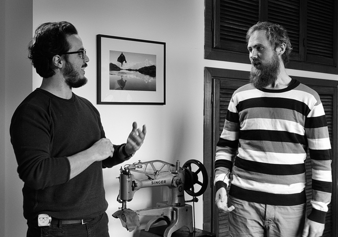 Two like-minded makers. The founder Giacomo (left) and the design partner David (right),
