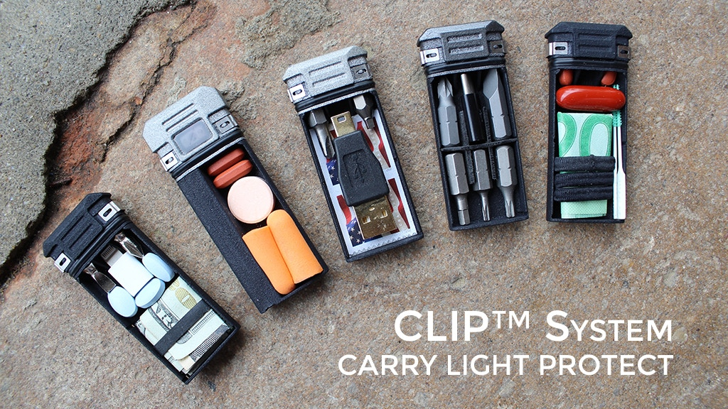 Lever Gear CLiP System: Compact Storage, Driver & Flashlight