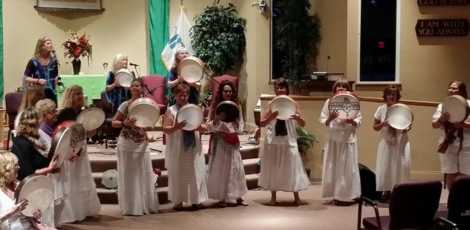 """Celebrating with our friends and students in Florida.  """"May the beauty we love be what we do.  There are hundreds of ways to kneel and kiss the ground. """"  --Rumi"""