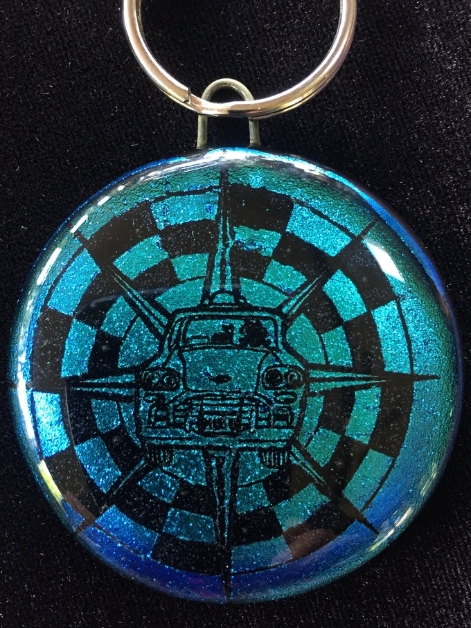 For a contribution of just $33 you can own this sparkling key ring by Marcia Wiley (Wileyware).