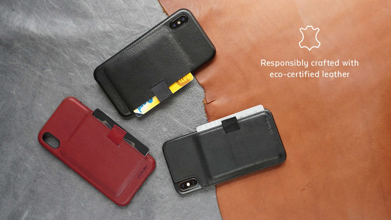 The original Wally Wallet is upgraded for iPhone X: Keep your cards hidden and safe in a luxury full-grain Leather Case or Stick-On.