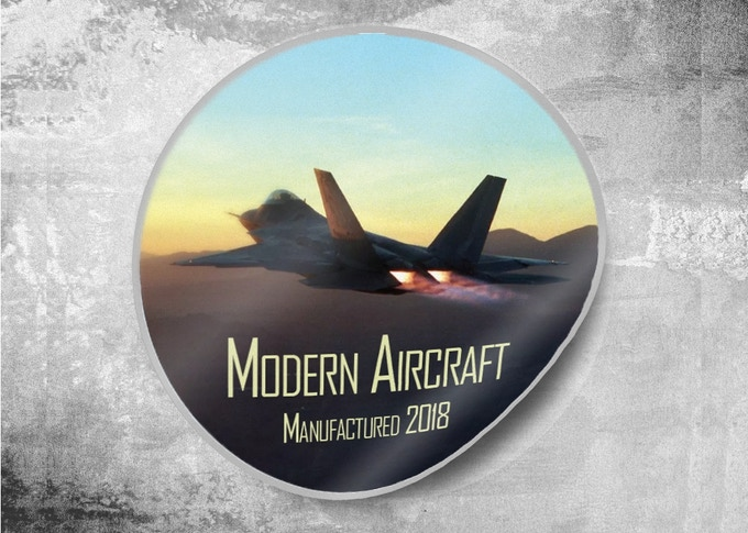 FREE Modern Aircraft Sticker for All Backers!