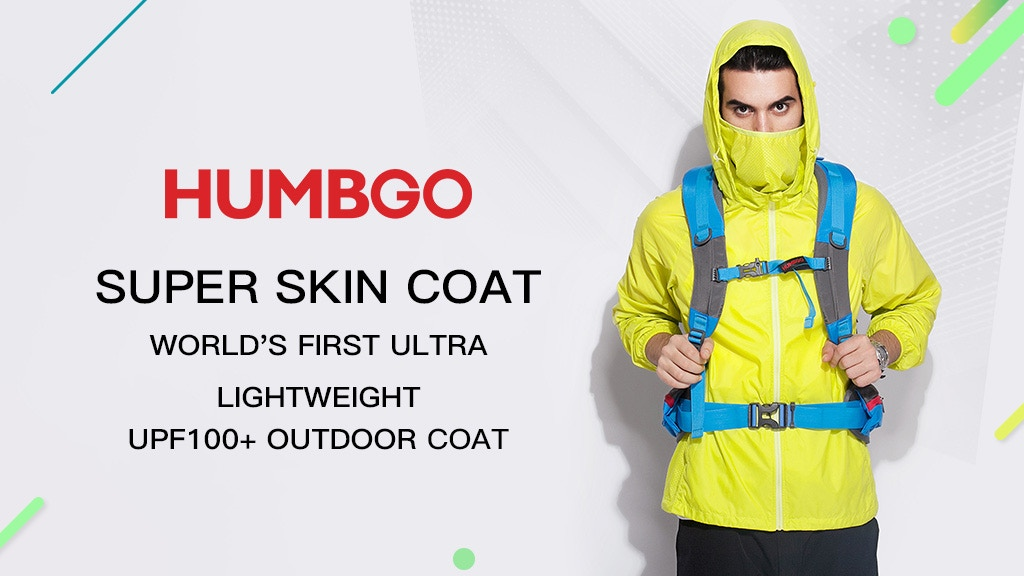HUMBGO SUPER SKIN COAT: Ultra Light UPF 100+ Outdoor Coat