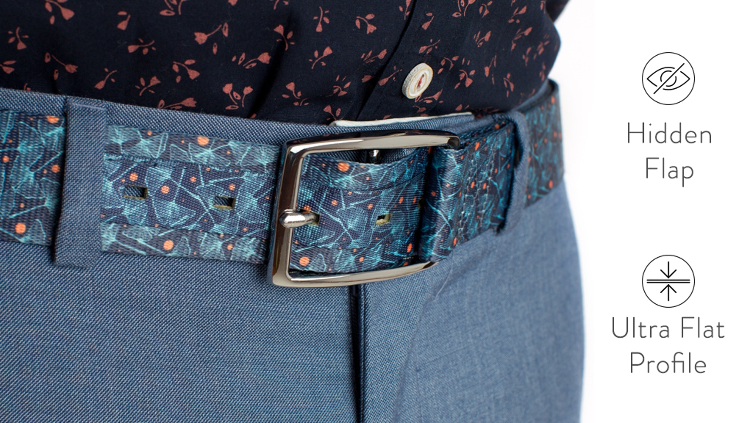 On a mission to re-invent the belt, the way it should have been invented in the first place, with the flap hidden behind the belt.