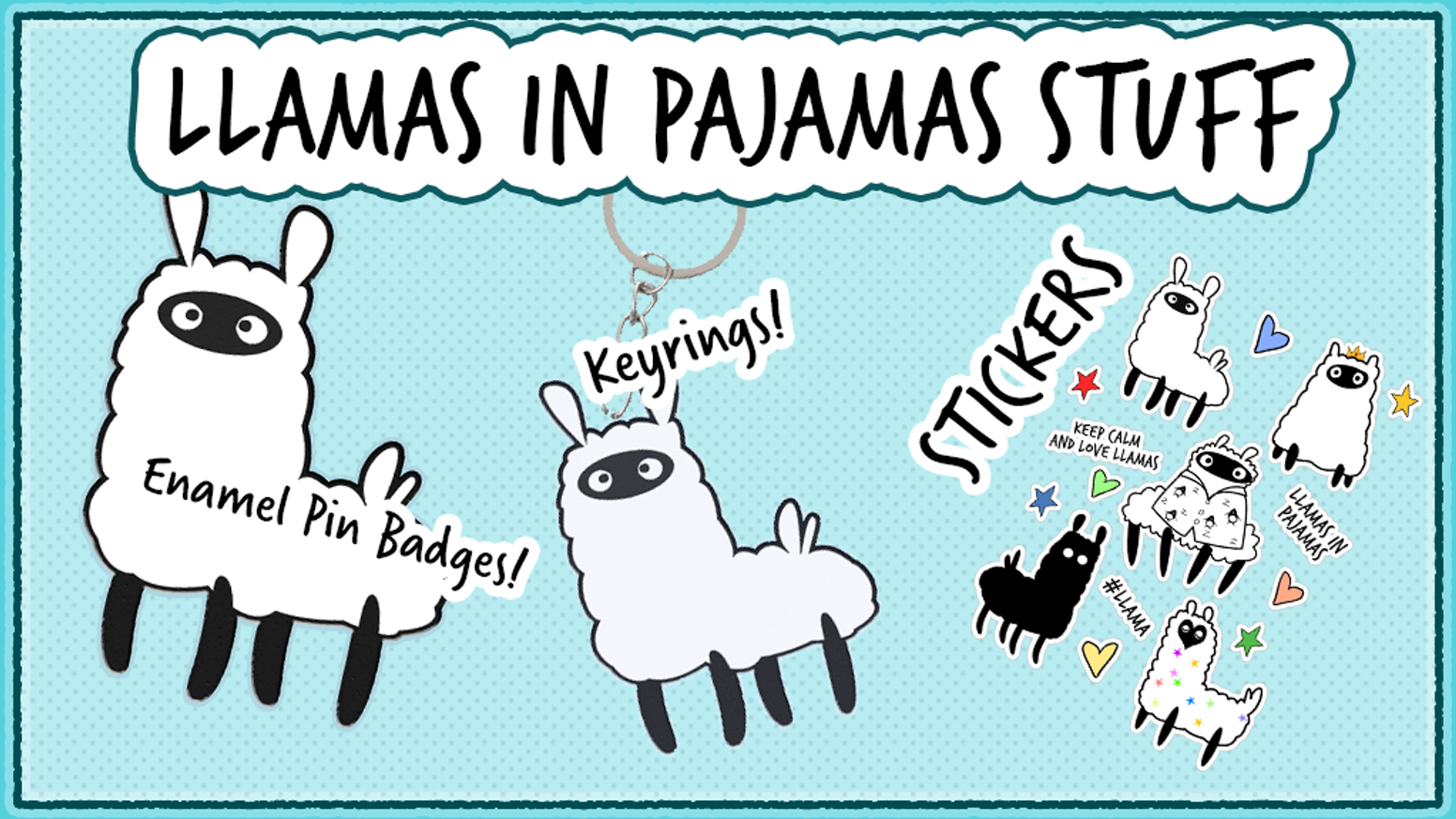 Llamas in Pajamas Pin Badges! by Sarah Bates — Kickstarter