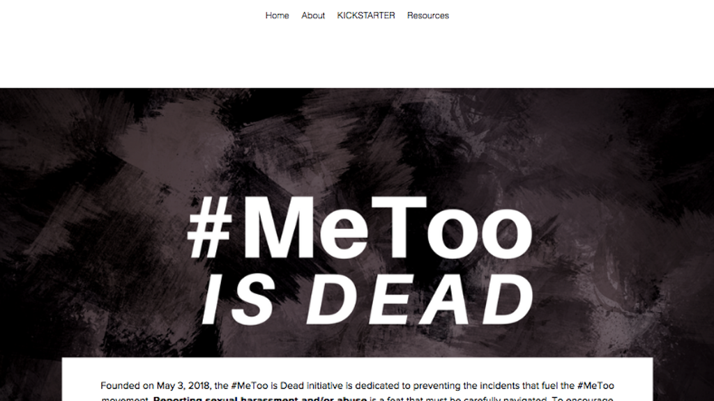#MeTooisDEAD Mobile App (Sexual Misconduct Reporting)