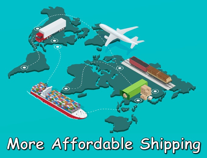 More affordable shipping around the world.