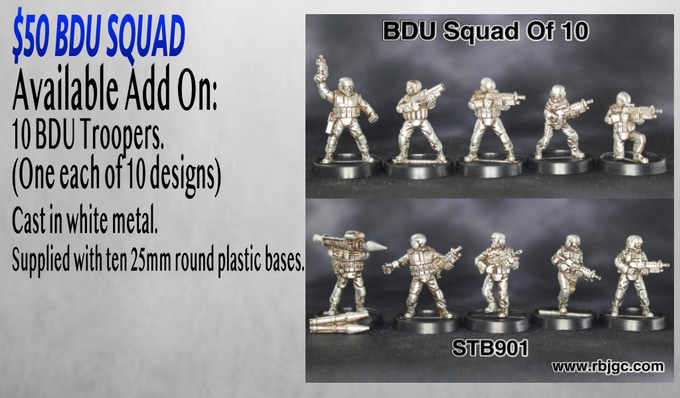 $50 BDU SQUAD ADD ON