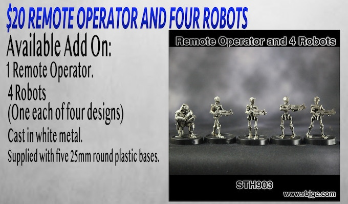 $20 REMOTE OPERATOR AND FOUR ROBOTS ADD ON