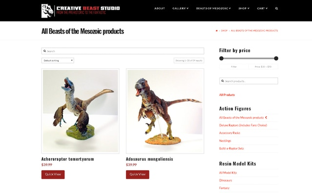 The new home for all Beasts of the Mesozoic items
