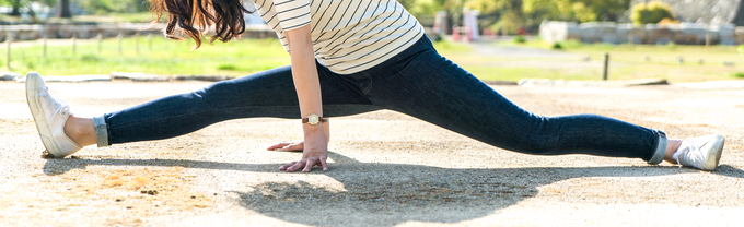 In case you ever needed to do the splits in jeans, we've got you covered.