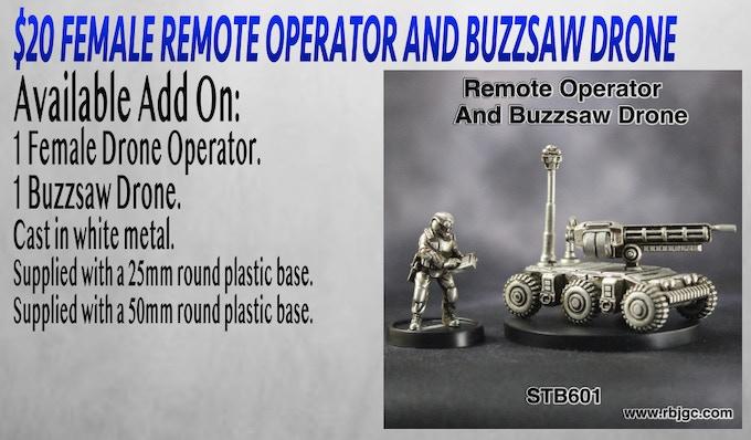 $20 FEMALE REMOTE OPERATOR AND BUZZSAW DRONE ADD ON