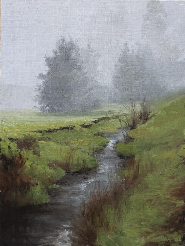 9x12 landscape sketch by Ryan S. Brown