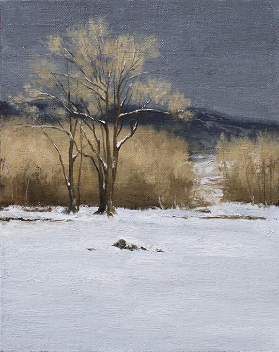 8 x 10 landscape sketch by Ryan S. Brown