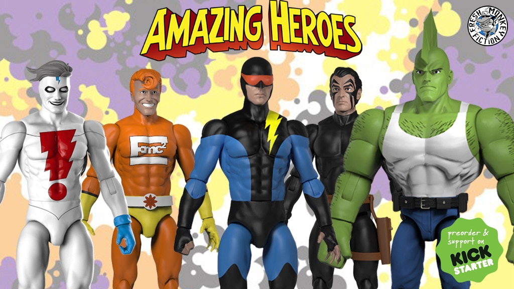 Project image for Amazing Heroes: 1/18 scale Super Hero Action Figures!