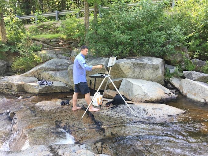 Ryan S. Brown painting en plein air