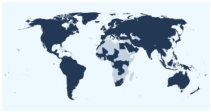 Hologram's Global Coverage Map