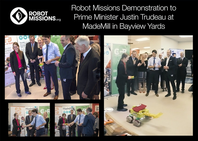Robot Missions demonstration to Prime Minister Justin Trudeau at MadeMill in Bayview Yards, Ottawa, ON