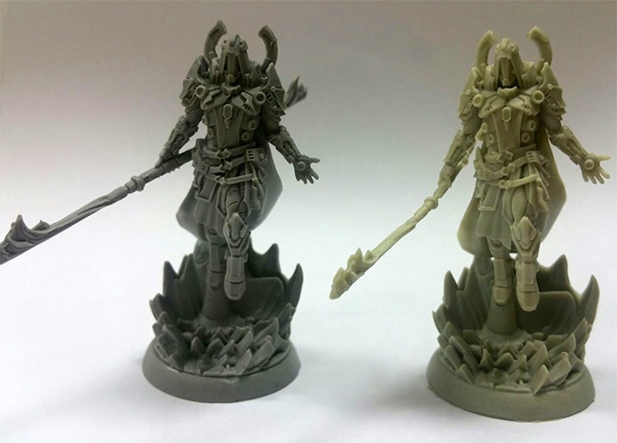 Jukas: PVC on the left, resin on the right