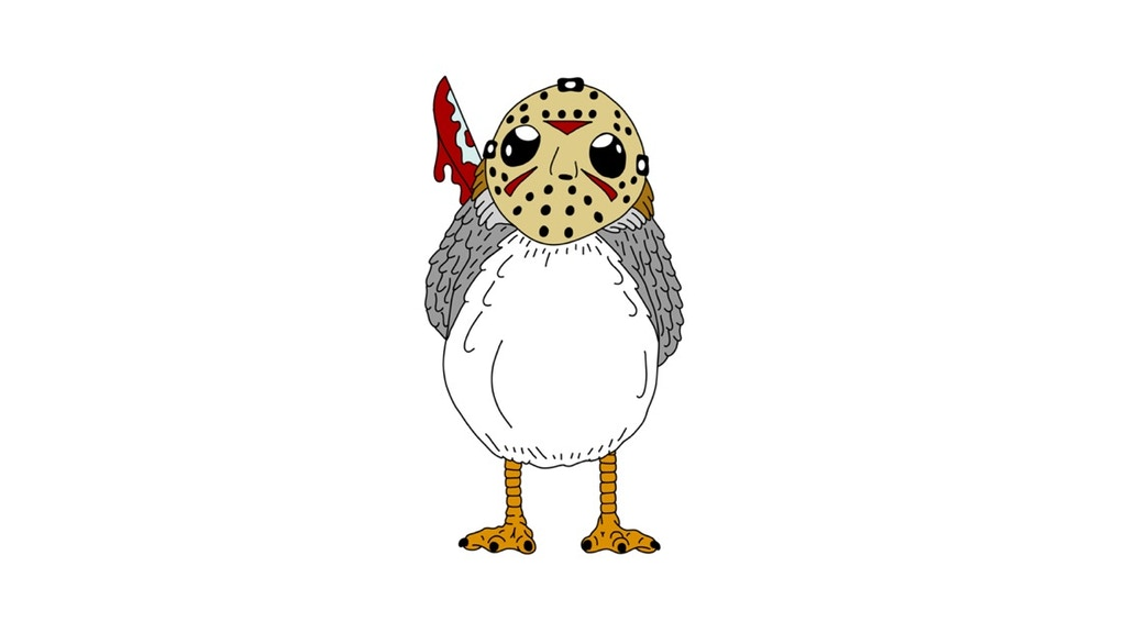For the Love of Porgs and Horror! Jason Porghees Enamel Pins