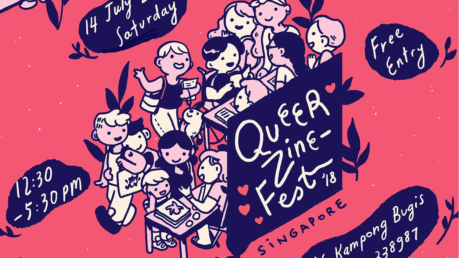 We made it! We couldn't have done it without you! Queer stories, art, music, and community come together in Singapore on the 14th July. See you there!