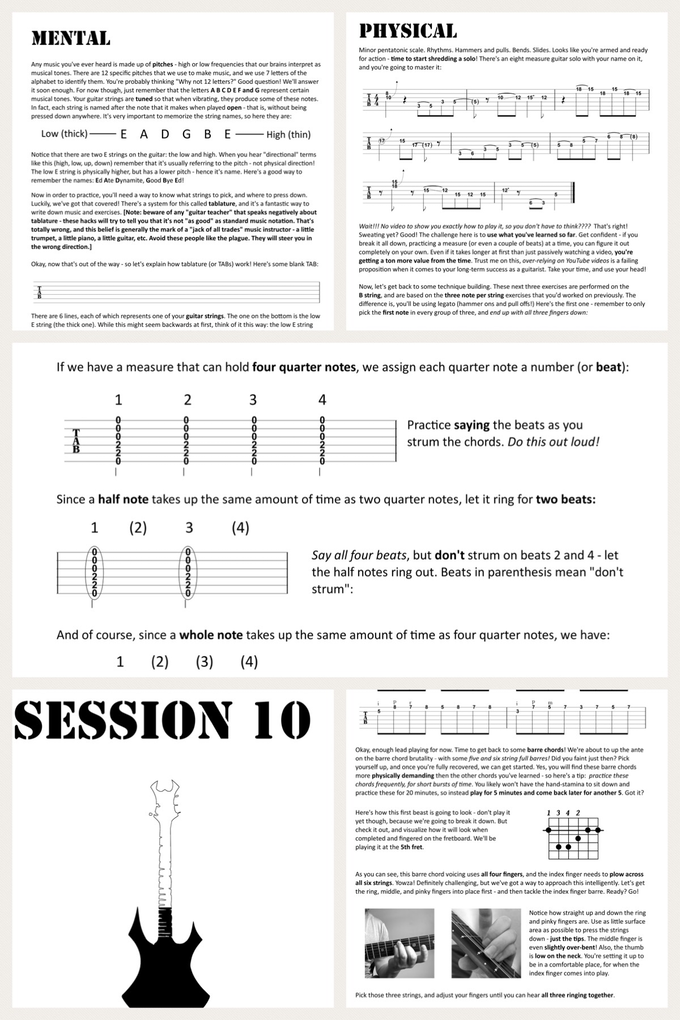 Beginner Guitar No Wimps By Metal Guitar Academy Mga Kickstarter