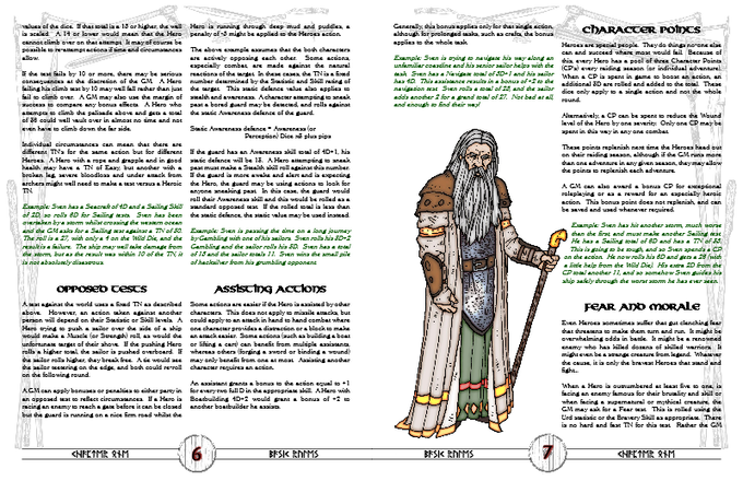 Sample laid out pages