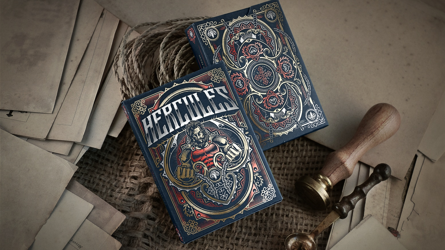 "A Deck of 100 % Custom Playing Cards based on the Roman Hero & God ""Hercules"". Printed by USPCC & Distributed by Gamblers Warehouse !!"