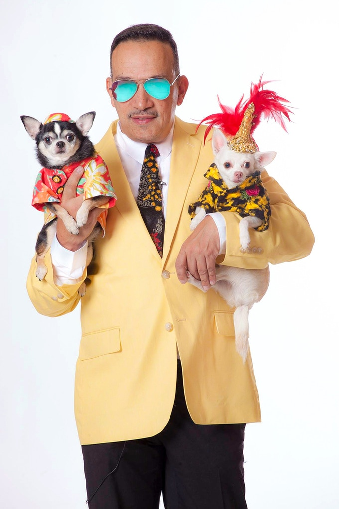 Anthony Rubio with Bogie and Kimba (Photo by Jeff Linett)