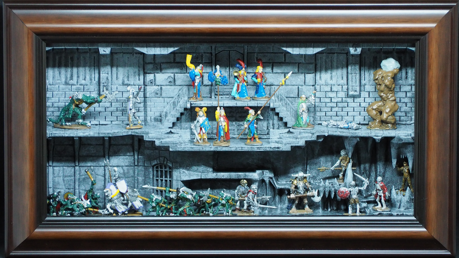 Display your game miniatures as art with these elegantly framed wall mounted display cases.